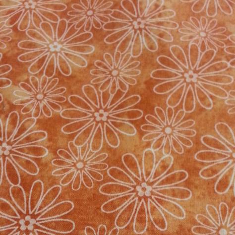Cool Scarf: Flowers-rusty orange