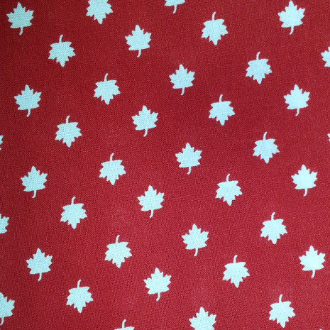 Cool Scarf: Maple leaves-red