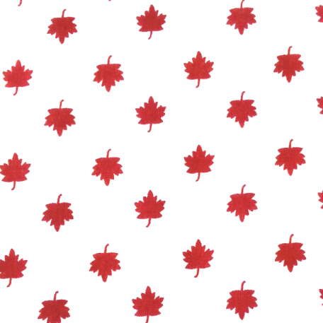 Cool Scarf: Maple leaves-white