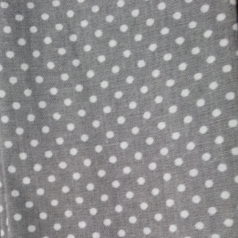 Cool Scarf: White dots-grey