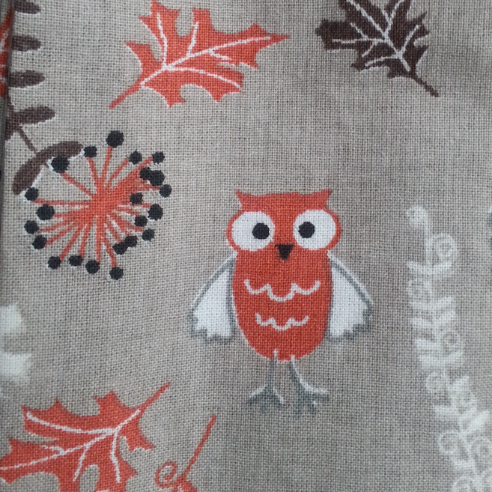 Cool Scarf: Owls-beige